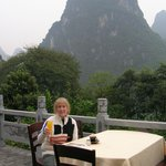First breakfast at Li River Retreat