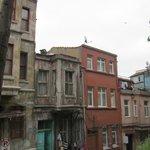 The neighborhood--in ruins.