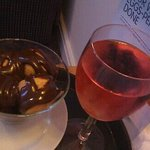 tasty profiteroles and rose to the room