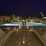 the pool view by night