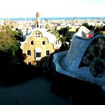 The Güell Park entrance from the most famous bench in the world