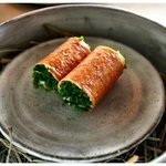 Crispy Crepes and Salmon Roe.