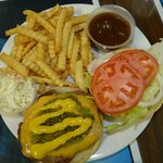 Our burgers are homemade.  Without the bun they are gluten free too!