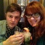 Enjoying a wee cocktail!