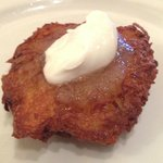 Our famous Latke with homemade dipping sauce