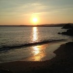 sunset view from the Rashleigh Arms on Polperris beach