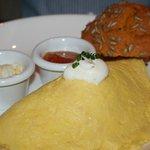 Tortilla con magdalena de zanahoria