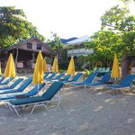 Beautifully clean, safe, beaches with their  own bar and restaurant just a few steps away.