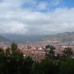 City of Cusco from balcony of hotel room