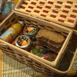 Delicious goods inside that basket!