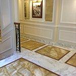 elegant marble hallways