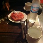 the welcome watermelon & 2 bottles of water! ^_^