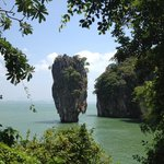 View of James Bond island from Ping Gan island