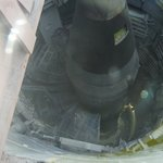 Looking down on the missile