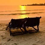 This sunset can also be seen from the Front beach bungalows