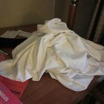dirty sheets left on the table!