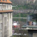 Utsikt från hotellrummet på sjunde våningen.