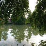 Grand lac pendant une promenade matinale