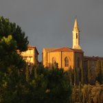 Cathedral of Pienza in late sunlight