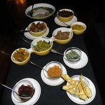 The Sri Lankan rice and curry - comes w/ 16 sides!