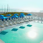 The Seagate Beach Club pool and beach