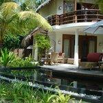 double beach villa