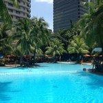 Lovely large pool at the Edsa Shangri La
