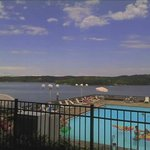 View of pool and Lake Barkley