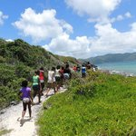 Hiking Sandy Cay