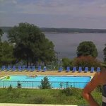 View of pool and Kentucky Lake