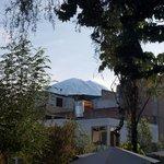 vue sur le volcan Misti, du Jardin principal.