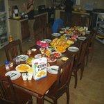 table (incomplète!) du petit déjeuner