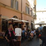 In front of Pasquino Cafe