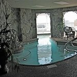 Lobby heated indoor/outdoor spa pool