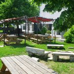 Outdoor dining available in the summer.