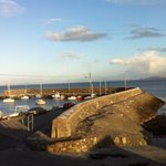 A view of the pier and into Claddagh, Galway Bay