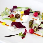 Goat curd and rooftop garden vegetables