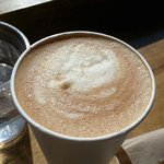 Latte, well-prepared and delightful