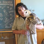 Ruth, the Barn Owl, and her handler