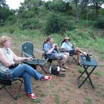 Sundowners on the banks of the Olifants River