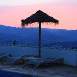 prachtige zonsondergang vanop terras B&B