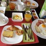 la colazione preparata con cura e super salutare.
