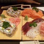 california maki et saumon & thon frais .