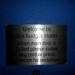 Welcome notice