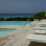 piscina y tumbonas del hotel...