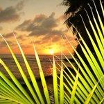 Lovely sunset in Half Moon Bay Resort