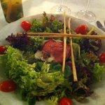 salade mozzarella et jambon italien