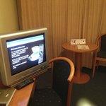 рабочий стол и приветственная заставка на экране телевизора