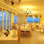 Restaurant with a panoramic view over the sea