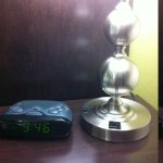Alarm clock and lamp with electrical plug